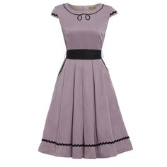 'Bethany' Lilac Swing Dress -  from Lindy Bop UK