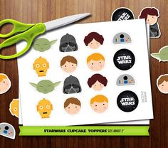 PRINTABLE Star Wars assorted cupcake toppers