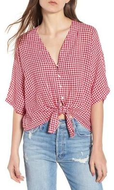 Rails Thea Tie Waist Blouse 4th Of July Outfits, Cotton Blouses, Ruffle Blouse, Tie, My Style, How To Wear, Clothes, Beauty, Shopping