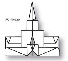 Mormon Origami-- mt timp temple