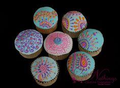 Indian theme cupcakes