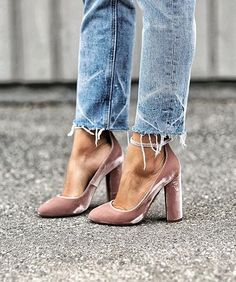 Velvet shoes!