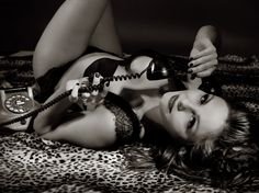 pinup with telephone