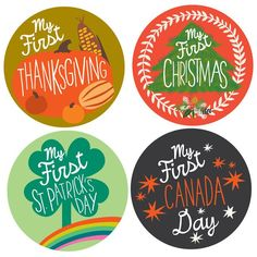 My First Holiday Stickers - CANADA
