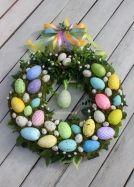 Wianek wielkanocny wielokolorowy-dekoracje wielkanocne, ozdoby na Wielkanoc