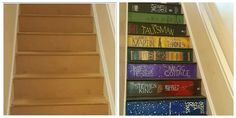 This Woman Transformed Her Staircase to Look Like a Stack of Books