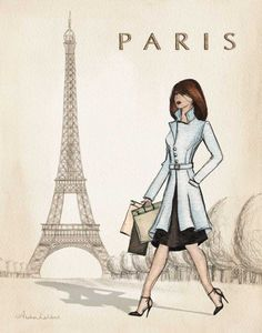 Paris by Laliberte, Andrea Paris Girl, I Love Paris, Paris Style, Art Parisien, Framed Art Prints, Poster Prints, Framed Wall, Poster Wall, Posters Vintage