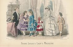 """""""1870"""" (Per original pinner) - Frank Leslie's Lady's Magazine  (These look more like 1885ish fashions to me)."""
