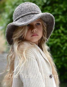 KNITTING PATTERN - Freelyn Brim Hat (Small, Medium, Large and XLarge sizes)
