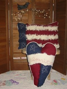 Americana Rag Pillows  PM $0.00