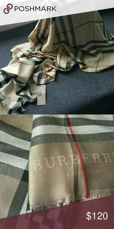 PLAID Cashmere Pashmina Winter Shawl NWT New plaid high quality scarf Cashmere pashmina shawl New in sealed package Brand logo and tag brand Burberry Accessories Scarves & Wraps