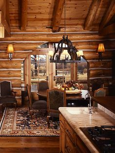 log home pics and ideas | Practical Lighting Tips for Log Homes | Illuminating Your Log Home ...