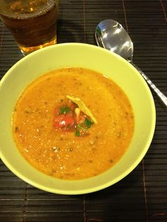 The Mistress of Spices: Spicy tortilla bisque with pico de gallo