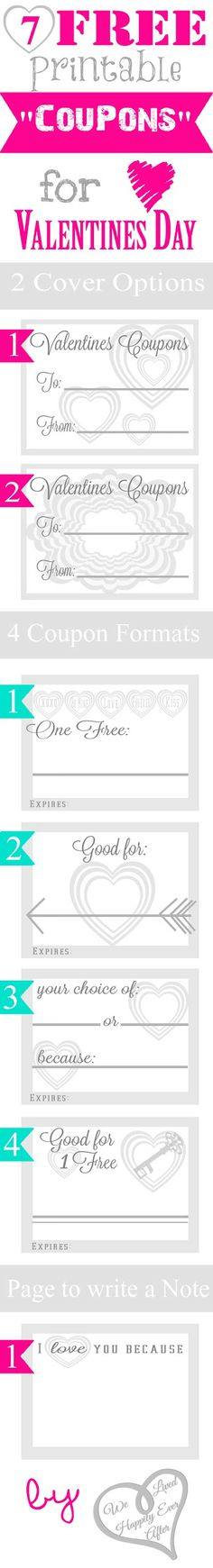 """We Lived Happily Ever After: 7 Free Printable """"Coupons"""" for Valentine's Day"""