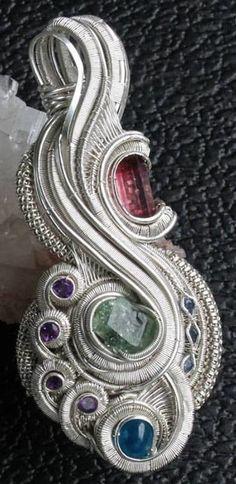 ©Joel Hocker #wirewrap #jewelry #wirewrapjewelry