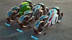 Lotus Tron style superbikes....