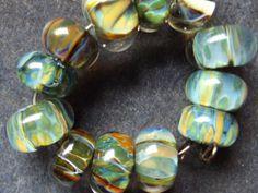 Orphan Boro Beads Handmade Lampwork Glass by LodahlArtWorks, $32.00
