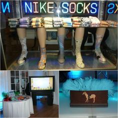 Bat Mitzvah Party Entertainment - Nike Custom Socks & Photo Booth {Party Planner: The Event of a Lifetime, Ellen Dubin Photography} - mazelmoments.com