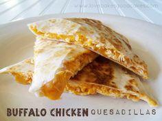 Buffalo Chicken Quesadillas | Love Bakes Good Cakes.