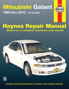 Mitsubishi Galant Haynes Repair Manual 1994-2010: Complete coverage for your Mitsubishi Galant for 1994… #CarParts #AutoParts #TruckParts