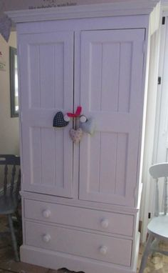 Solid Pine #Vintage Wardrobe #bedroom #white #upcycle #anniesloan #chalkpaint #home #solid #wood