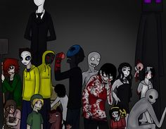 My Top Five - Eyeless Jack, Jeff The Killer, Masky, Ben Drowned, and Sally  - No Particular Order <3