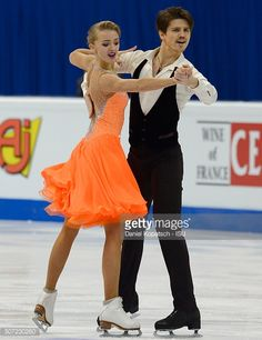 Alexandra Stepanova and Ivan Bukin of Russia perform during their Ice Dance Short Dance during the ISU European Figure Skating Championships 2016 on January 2016 in Bratislava, Slovakia. Get premium, high resolution news photos at Getty Images Roller Skating, Ice Skating, Figure Skating, Ice Dance Dresses, Skating Dresses, Country Dance, Dance Shorts, Flare Skirt, Dance Costumes