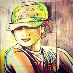 Tufello / rome  Artist Alice Pasquini  Photo by alfredo facchini #ShareArt - http://wp.me/p6qjkV-7TP  #Art