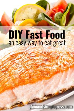 DIY fast food - an easy way to eat great! This Grilled Soy-Ginger Tuna with Quickie Veggies recipe goes from fridge to dinner table in about 15 minutes.
