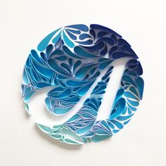 A Yes, my ideas are totally random. #quilling #paper #art #paperart #papercut #papercutting #paperquilling #paperdesigns #typography #letters #designspiration #goodtype #typegang #blue #クイリング #ペーパー #アート #ペーパーアート #紙 #タイポグラフィ #青
