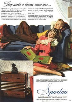 They made a dream come true... #vintage #ad #couple #home #decor #radio