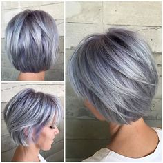 By Butterfly Loft stylist Alexis @alexisbutterflyloft using @pulpriothair. Roots are Smoke and Lilac. Ends are Mercury and Lilac.