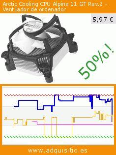 Arctic Cooling CPU Alpine 11 GT Rev.2 - Ventilador de ordenador (Ordenadores personales). Baja 50%! Precio actual 5,97 €, el precio anterior fue de 11,89 €. https://www.adquisitio.es/arctic-cooling/alpine-11-gt-rev-2-91-x