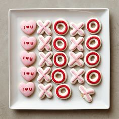 Mini Iced Valentine Vanilla Cookies