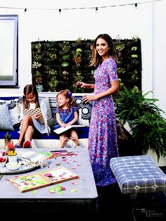 Jessica Alba and Daughters in Better Homes and Gardens | POPSUGAR Home