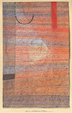Paul Klee, Halbkreis zu Winkligem, Semi-circle with angular features, 1932.