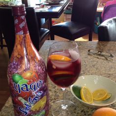 New summer drink and add a splash of white wine to the yago sangria ...