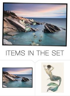 """""""~Mermaids~"""" by dreamer1218 ❤ liked on Polyvore featuring art"""