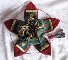 Stumpwork embroidery 'petal bag' opened. by Janet Granger. October 12, 2009 by Janet Granger