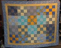 @Missouri Star Quilt Company  Floral Nine Patch Throw