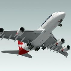 Model: Airbus Qantas ~ Buy Now Qantas Airlines, Airbus A380, Aviation, Aircraft, Design Trends, Model, Commercial, 3d, Board