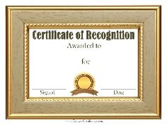 Recognition Certificate Template  Certificate Templates