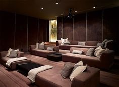 Cinema / Media Room :: Spectacular Minimalist Home Design In Los Angeles By  SPF Architects