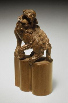 Seal Carved as Chinese Lion Japan, late 19th century
