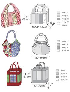 Accessory & Bag Patterns - Kwik Sew Bags Pattern