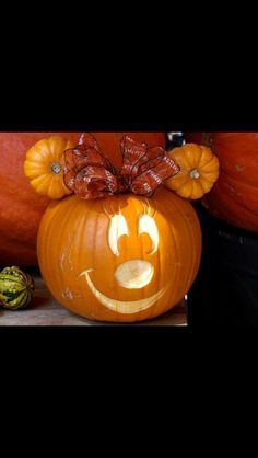 Mini Mouse pumpkin