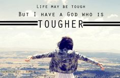 ...My God is tougher!