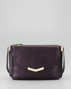Trilogy Leather Crossbody Bag, Purple by Time\'s Arrow at Neiman Marcus.