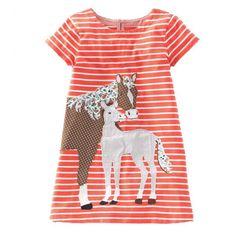 Cotton Applique Dress for Girls