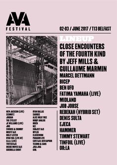 AVA FESTIVAL AND CONFERENCE IS BACK ACROSS TWO DAYS FOR 2017!: AVA returns to T13 Belfast, announcing a UK and Ireland debut of Jeff Mills…